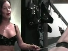 German MILF domina in kinky BDSM action