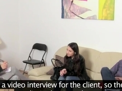Russian teen In First time Casting