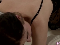 Horny pornstar in Amazing Cumshots, Brunette adult clip