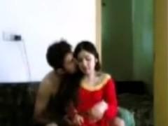 Pakistani police boyfrend with his wife