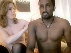 Jerking off by my white wife slut