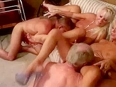 3 horny mature couples fucking each other