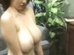 Hot brunette babe Kathryn playing her tits and pussy