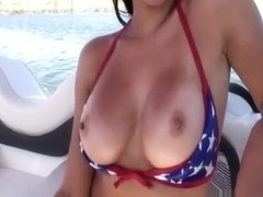 Wicked doxy sucks me on the boat