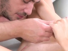 Brunette nymph fucked in mouth and vagina