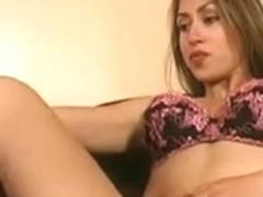Dominant brunette tortures her sissy serf