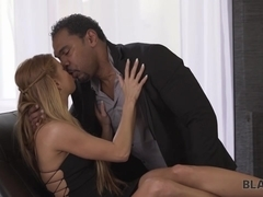 BLACK4K. Serious black gentleman has a huge cock for white cutie