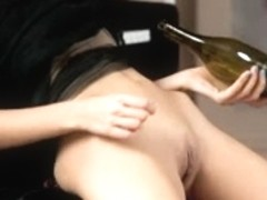 Legal Age Teenager masturbation with bottle of Wine