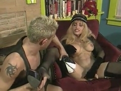 Hottest amateur shemale movie with Blonde, Stockings scenes