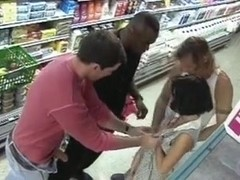 Gangbang at a grocery store