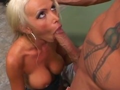 Glamorous busty blonde fucked on the camera