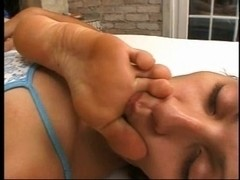 Take Up With The Tongue My Admirable Feet - foot fetish lesbo