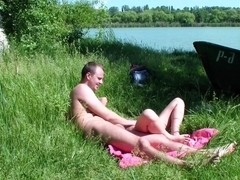 Adele in amateur video showing an outdoor passionate sex