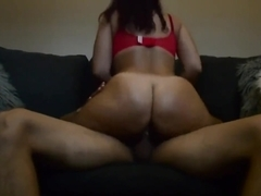 Latina rides Pornhub member and loves it