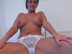 Giantess Emma has fun with tinies (panties) (ADD for more videos)