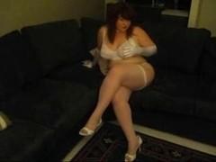 hawt big beautiful woman in stocking