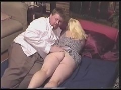 Chubby Guy Fucked and Sucked by Chubby Lady Cum Swallowed