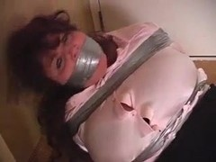 curvy elane taped upwrap gagged