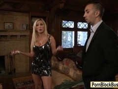 Massive hooters milf Nikki Benz throated and hard pounded