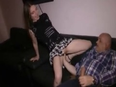 Tiny german girl fucked and fisted by older man