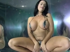 STRIPTEASE. Micro bikini dance. Who is she?
