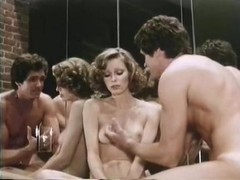 Veronica Hart, Lisa De Leeuw, John Alderman in vintage fuck movie
