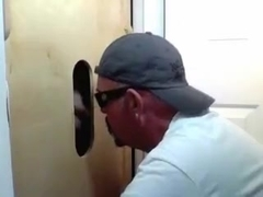 Gloryhole Married Buddy Returns for face hole and arse