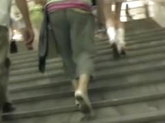 The lengthy legged teenie up petticoat on video