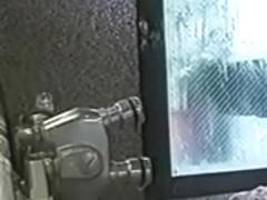 oriental honeys in washroom (fake voyeur)