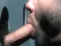 Multiple hot gay BJs at glory holes