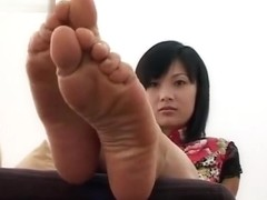 Chinese girl's tied-up feet
