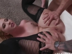 Samantha Rone got properly stuffed with a rock hard dick, until she started screaming from pleasure
