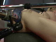 Best fetish, blonde adult clip with fabulous pornstar Penny Pax from Fuckingmachines