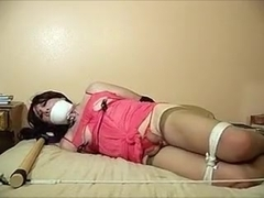 Horny Amateur Shemale clip with Lingerie, Stockings scenes