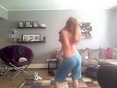 Fabulous twerking web camera legal age teenager clip