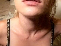 Girlfriend enjoying messy facial