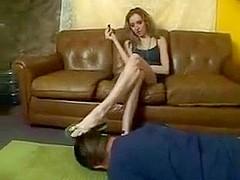 Slave licks smutty Flip Flops