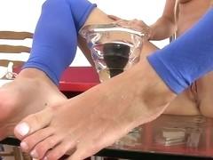 Blonde Carla masturbates rough and achieves an orgasm