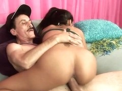 Ruby Rayes rides her hot pussy on this hard prick