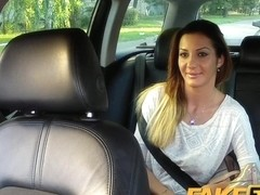 FakeTaxi: Hawt Romanian cutie in backseat fellatio