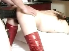 Huge schlong sex toy drilled unrepining bondman