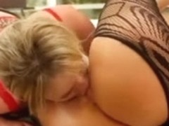 Rotten lesbo harlots simulate sex two