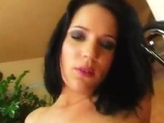 A sexy brunette gets her anal abilities tested to the max.