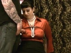 breasty satin mother I'd like to fuck in distress ripped clothing slit toyed