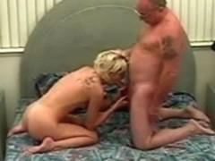 Juvenile Lustful Doxy Engulfing Old Mans 10-Pounder