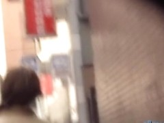 Alley sharking encounter with na.ve sweet Japanese vixen being easily fooled