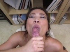 Amateur Asian Sucks The Cock!