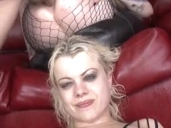 Big tits cowgirl gagging with swallow