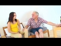 Tiny tittted angel acquires fucked by older man  PART1