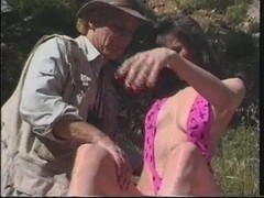 Skinny dark brown fucked right into an asshole in the meadow